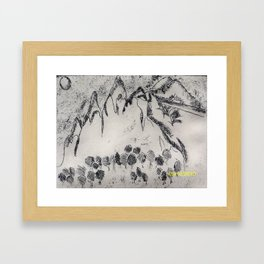 Drawing VS Painting Framed Art Print