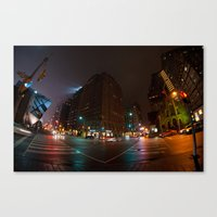 toronto Canvas Prints featuring Toronto by Callan Convery Design