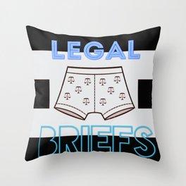 legal briefs Throw Pillow