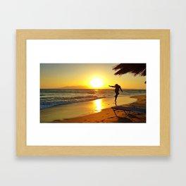 Plaka Sunset Framed Art Print