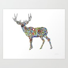Third Eye Deer Art Print
