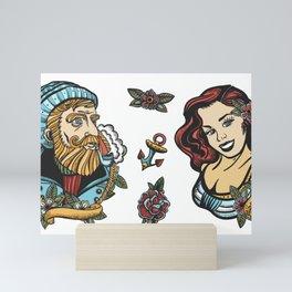 Nautical Tattoo Theme Mini Art Print