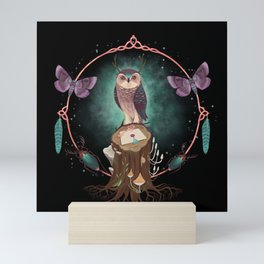 Enchanted Woodland Secret Keeper And Dream Catcher Mini Art Print