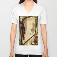 football V-neck T-shirts featuring Football by Robin Curtiss