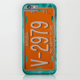 1999 Aruba License Plate One Happy Island Tag iPhone Case