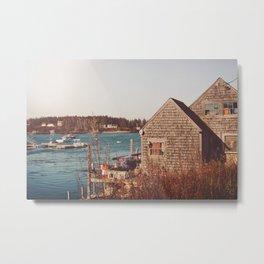 New England Waterfront  - Nautical Art Metal Print