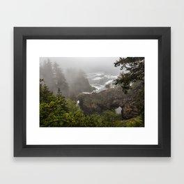 Fog Over Natural Bridges Framed Art Print