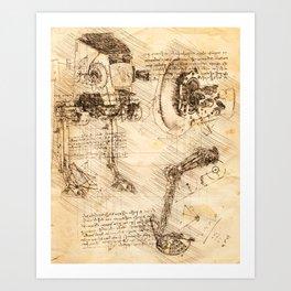 Codex: AT-ST Art Print
