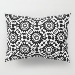 Monochrome, black and white pattern. Pillow Sham