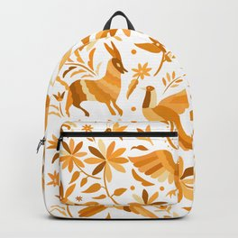 Mexican Otomí Design in Yellow Backpack