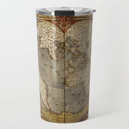 Heart-shaped projection map Travel Mug