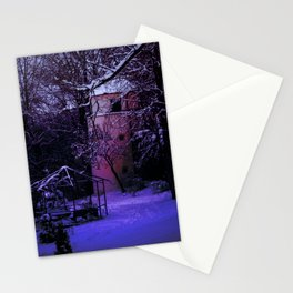 Concept Baden-Wurttemberg : Winter scenery castle park Laupheim Stationery Cards