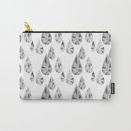 Crytal Raindrop in Gray Carry-All Pouch