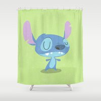 stitch Shower Curtains featuring Stitch by Rod Perich
