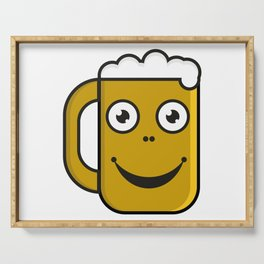 Beer party  #society6 #decor #buyart #artprint Serving Tray