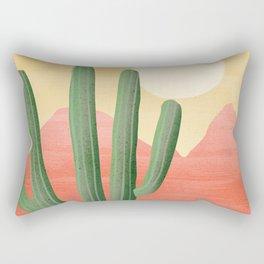 Cactus Sunset Rectangular Pillow