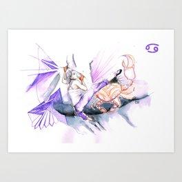 Couragious Cancer Art Print