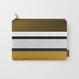 Golden Stripes Pattern Carry-All Pouch