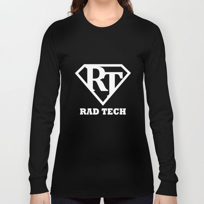 06303960 Radiology Tech Super Hero Rad Tech Long Sleeve T Shirt By Griffs Art