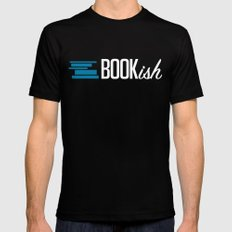 Bookish Black Mens Fitted Tee LARGE