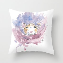 Cosy rat. Throw Pillow