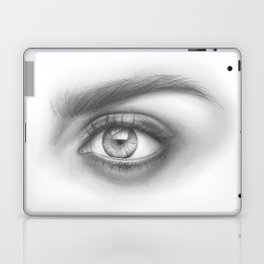 Eye Art | Sexy Girl | Beauty | Model | Woman Face | Graphite Drawing| Pencil Black and White Art Laptop & iPad Skin