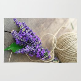 Lavender bouquet Rug