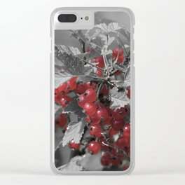 Redcurrant Clear iPhone Case