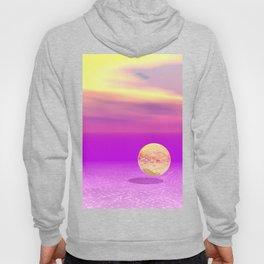 Adrift, Abstract Gold Violet Ocean Hoody