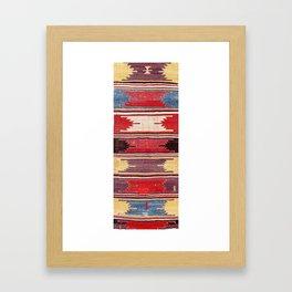 Nevsehir Cappadocian Central Anatolian Kilim Print Framed Art Print