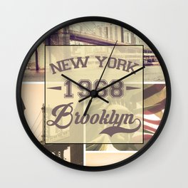 New York 1968 Wall Clock