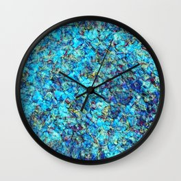 Turquoise Pebble Pool Ripple Wall Clock