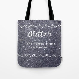 Quirky funny glitter - black Tote Bag