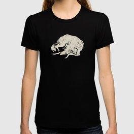 White Dog Sleeping T-shirt