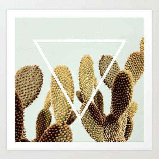 Cactus geometry Art Print