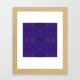 Purple/Black Tribal Pattern Framed Art Print