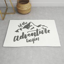 Let the Adventure Begin WHITE Rug