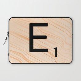 Scrabble E - Large Scrabble Tiles Laptop Sleeve