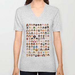 Movie Characters Heads Unisex V-Neck