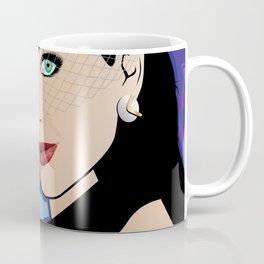 Beautiful Pop Art Girl with Martini and Stewardess Hat Coffee Mug