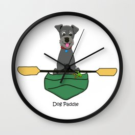 Dog Paddle Wall Clock