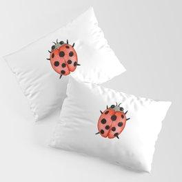 Ladybug | Entomology watercolor art Pillow Sham