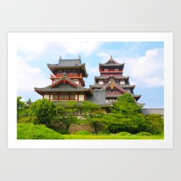 Castle Olden (Fushimi Momoyama) Art Print