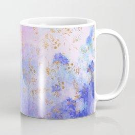 Lavender teal swirls gold Coffee Mug