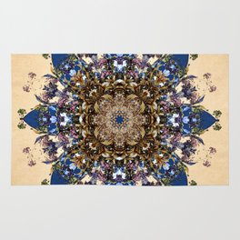 Spikeflower Floral Mandala Rug