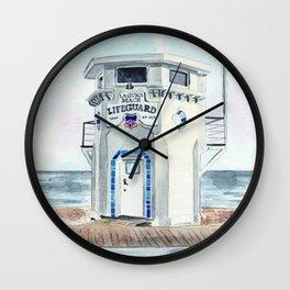 Laguna Beach Lifeguard Tower Wall Clock