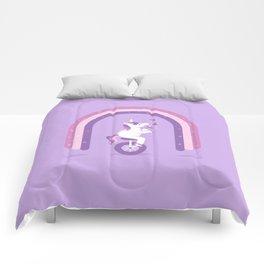 Unicycle Unicorn Comforters