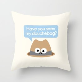 Missing Person Throw Pillow