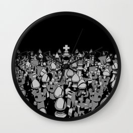 The Chess Crowd Wall Clock