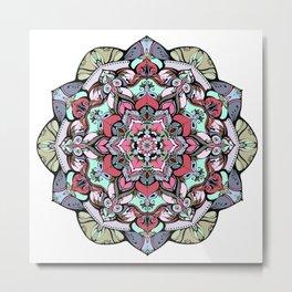 Flowers mandala #38 Metal Print